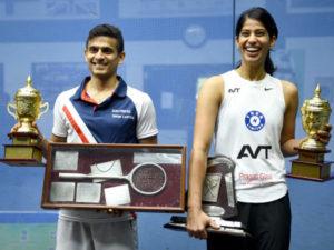 Saurav Ghosal and Joshna Chinappa