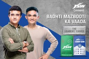 Sourav Ganguly, Sunil Chhetri designate Brand Ambassadors for JSW Cement