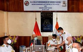 Indian Coast Guard & Indonesia Coast Guard sign MoU to boost maritime relations